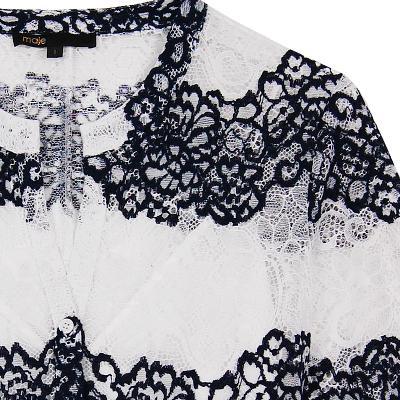 lace flare dress white